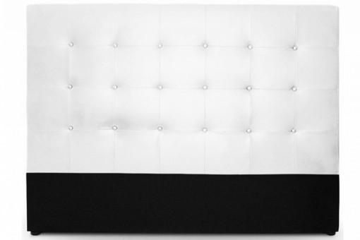 t te de lit capitonn e en cuir blanc 180 cm achat t te. Black Bedroom Furniture Sets. Home Design Ideas