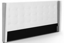 Tête de Lit Tête de lit capitonnée à rabat en simili cuir blanc 180 cm Léa, deco design