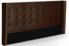 Tête de Lit Tête de lit capitonnée à rabat en simili cuir marron 180 cm Léa, deco design