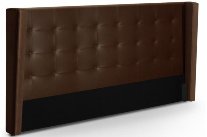 t te de lit capitonn e rabat en simili marron 180 cm l a t te de lit pas cher. Black Bedroom Furniture Sets. Home Design Ideas