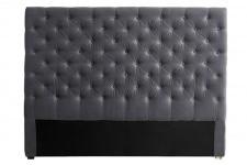 Tête de Lit Tête de lit capitonnée velours gris 180 cm, deco design