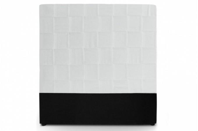 t te de lit en simili cuir blanc. Black Bedroom Furniture Sets. Home Design Ideas