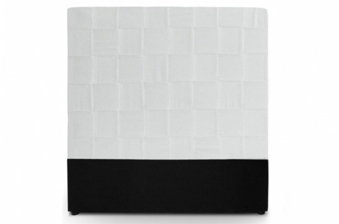 T te de lit en simili cuir blanc - Lit simili cuir blanc 140 ...