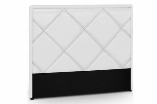 Tête de lit en simili cuir blanc Ramsés 160 cm