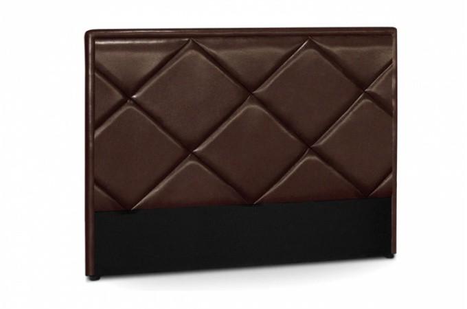 t te de lit en simili cuir marron. Black Bedroom Furniture Sets. Home Design Ideas