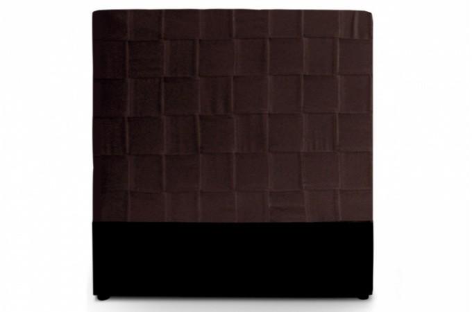 t te de lit en simili cuir marron 140 cm kalo t te de. Black Bedroom Furniture Sets. Home Design Ideas