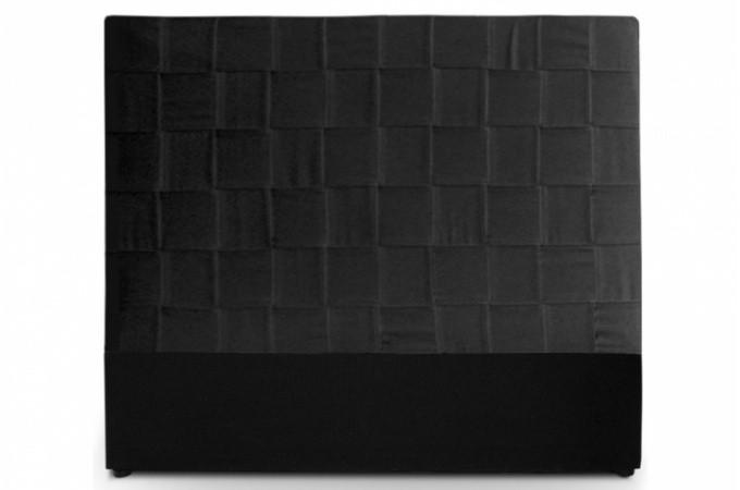T te de lit noire pas ch re - Tete de lit cuir noir ...