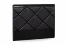 Tête de Lit Tête de lit en simili cuir noir Ramsés 180 cm, deco design