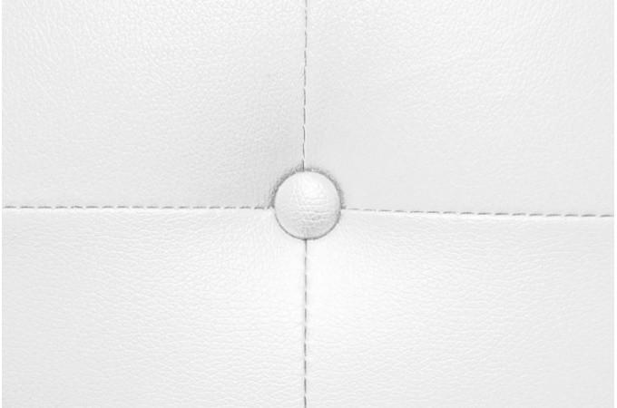 t te de lit capitonn e en simili cuir blanc t te de lit. Black Bedroom Furniture Sets. Home Design Ideas