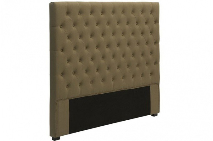 t te de lit capitonn e en lin taupe 160 cm t tes de lit. Black Bedroom Furniture Sets. Home Design Ideas