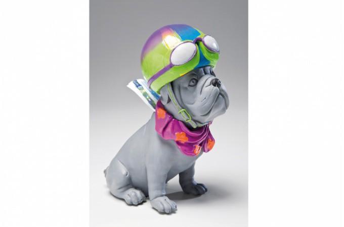 Declikdeco  Tirelire chien gris Gavroche
