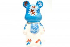 KARE DESIGN - Tirelire Ourson Funky Blanc/Bleu Puzzle - Tirelire design