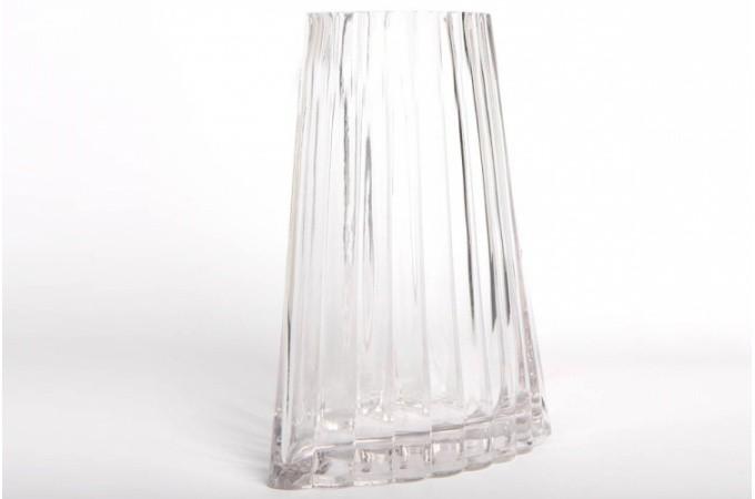 vase en verre design asym trique montecristo 24 cm vases et vides poches pas cher. Black Bedroom Furniture Sets. Home Design Ideas