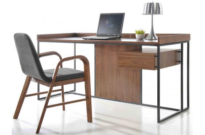Bureau en bois h v a nuys plateau clair bureau pas cher for Mobilier bureau zen