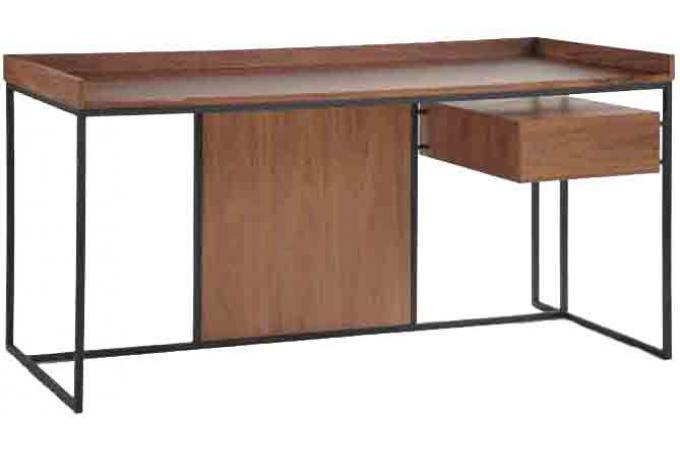 bureau en bois h v a nuys plateau clair bureau pas cher. Black Bedroom Furniture Sets. Home Design Ideas