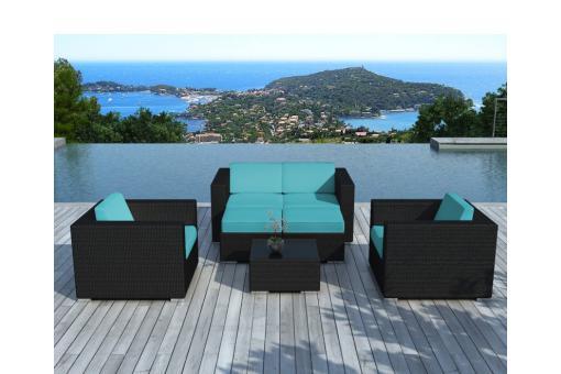 Salon de jardin blanc et turquoise des id es int ressantes po - Salon blanc et turquoise ...