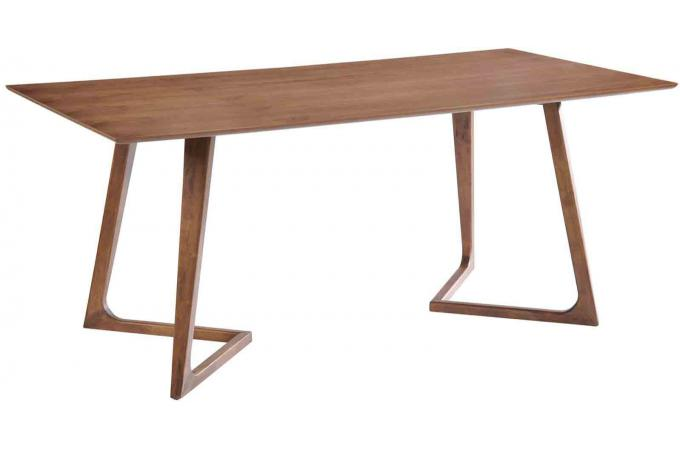 table en bois h v a kenyu coloris noyer 200cm table manger pas cher. Black Bedroom Furniture Sets. Home Design Ideas