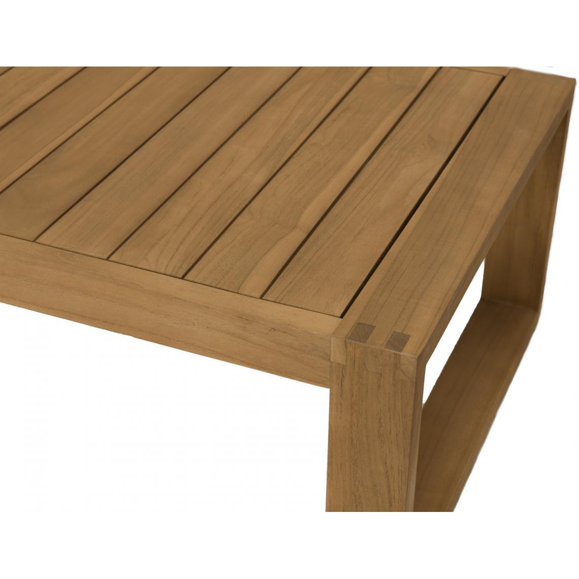 Salon de jardin MAJORQUE Table basse Teck+ Canapé 7 places + 7