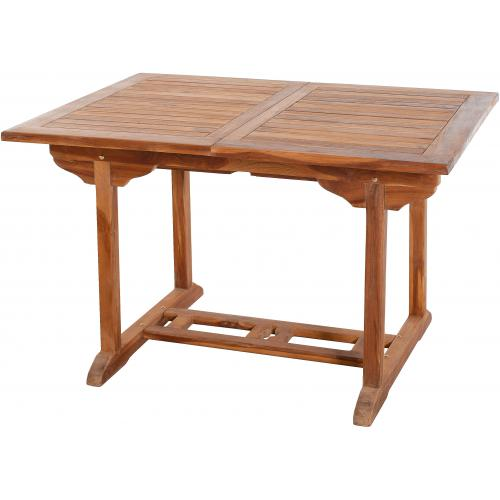 Table rectangulaire extensible 120/180 x 90 cm en Teck huilé - Table de jardin design