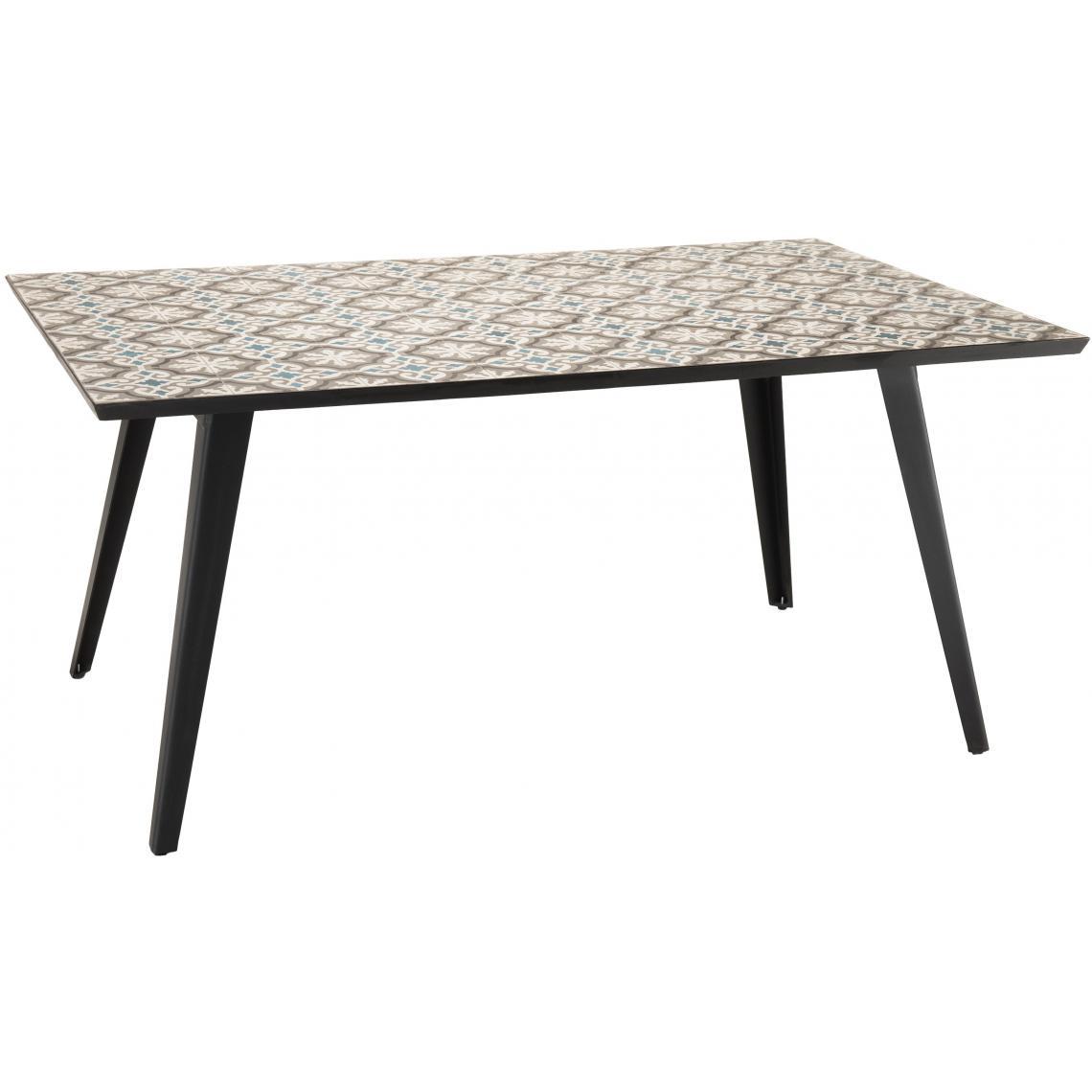 Salon De Jardin Carreau De Ciment table rectangulaire plateau carreaux de ciment 162x102cm - pieds métal plus  d'infos