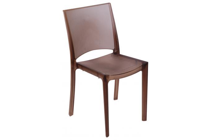 chaise design marron fum e transparente nilo chaise design pas cher. Black Bedroom Furniture Sets. Home Design Ideas