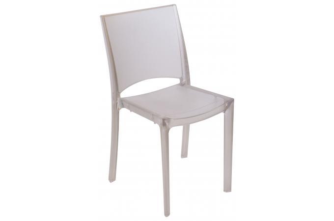 Chaise design transparente blanche grise fum e transparente nilo chaise d - Chaise transparente grise ...