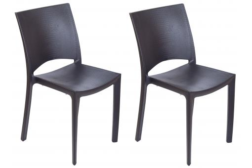Lot de 2 chaises anthracite COCCO