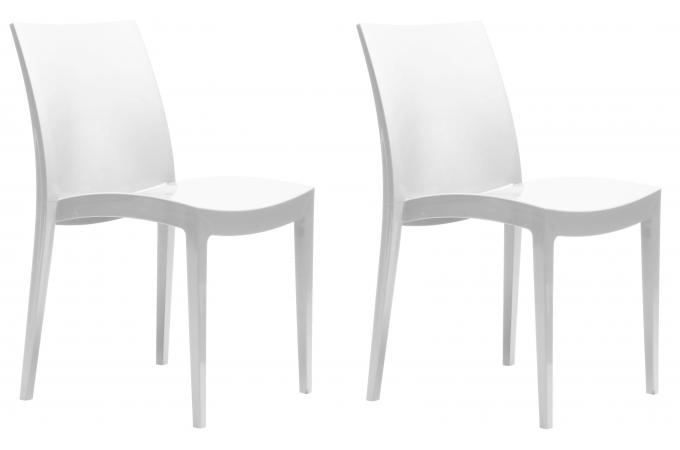 lot de 2 chaises flashy blanches london - chaise design pas cher - Chaise Blanche Design Pas Cher