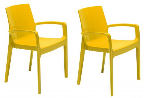 Lot de 2 chaises jaunes GENES