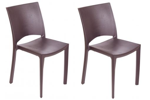 Lot de 2 chaises marron COCCO