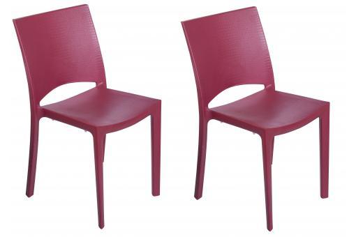 lot de 2 chaises rouges effet croco arlequin chaise design pas cher. Black Bedroom Furniture Sets. Home Design Ideas