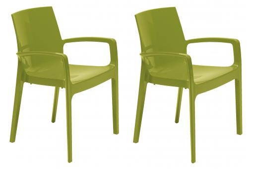 Lot de 2 Chaises Vertes GENES