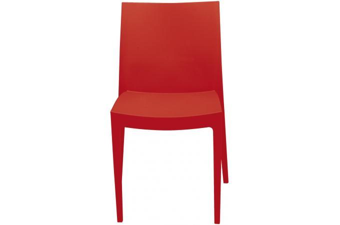 chaise de jardin empilable rouge en polymeric kacie chaise design pas cher. Black Bedroom Furniture Sets. Home Design Ideas