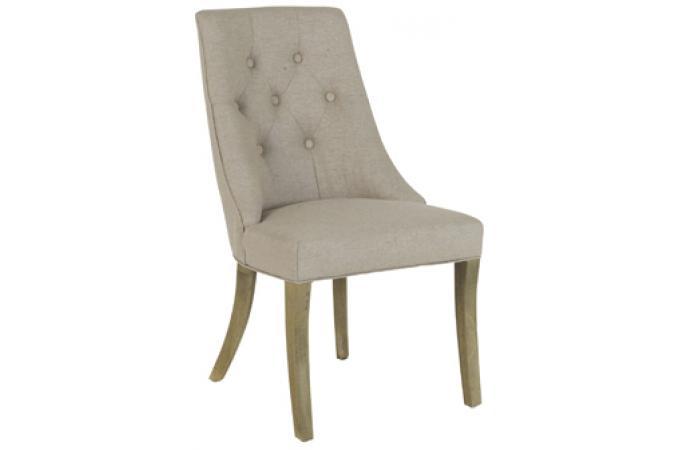 Chaise leopold beige antique chaise design pas cher for Chaise beige pas cher