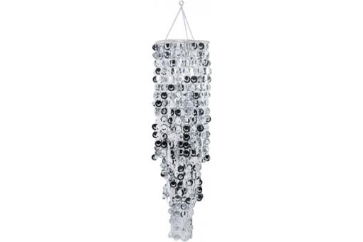 Suspension Cercles Argentés H150 Cm - Lustre et suspension design