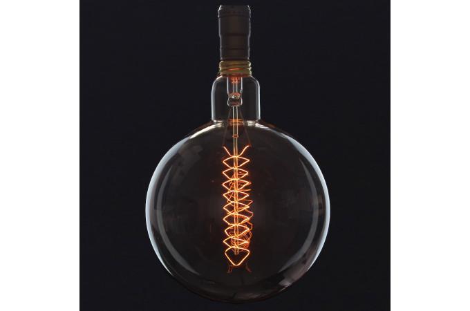 ampoule decorative globe xxl filament zigzag 40w e27 d20 edison ampoule filament design pas cher. Black Bedroom Furniture Sets. Home Design Ideas