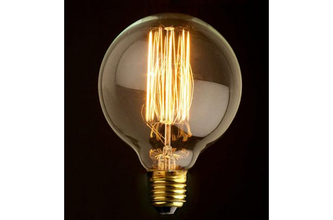 ampoule d corative r tro edison globe 8 cm filament incandescent 40w e27 ampoule filament. Black Bedroom Furniture Sets. Home Design Ideas