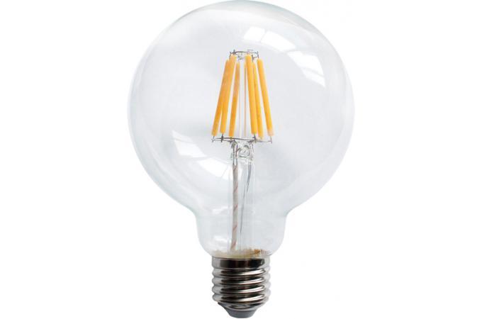 ampoule led r tro edison globe 9 5 cm filament 6w e27 ampoule filament design pas cher. Black Bedroom Furniture Sets. Home Design Ideas