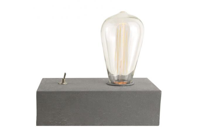 ampoule vintage sur socle en b meubles en ligne. Black Bedroom Furniture Sets. Home Design Ideas