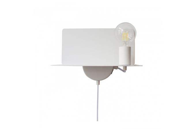 Applique ampoule usb blanc megyn lampe murale pas cher