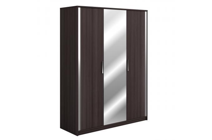 armoire 3 portes et miroir ch meubles en ligne. Black Bedroom Furniture Sets. Home Design Ideas