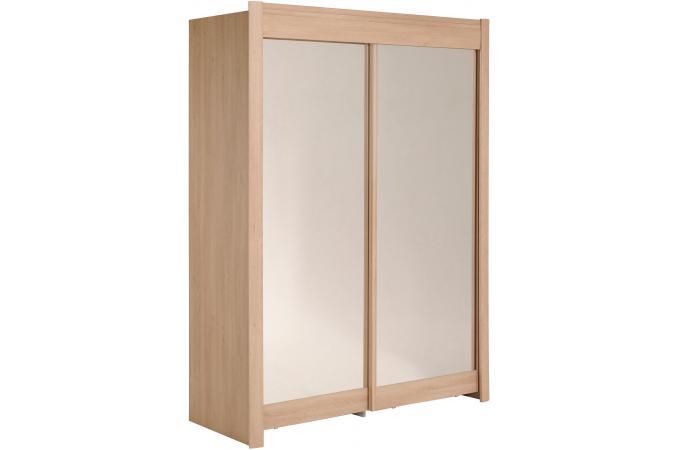 Armoire avec miroir 2 portes coulissantes ch ne for Armoire avec porte coulissante pas cher