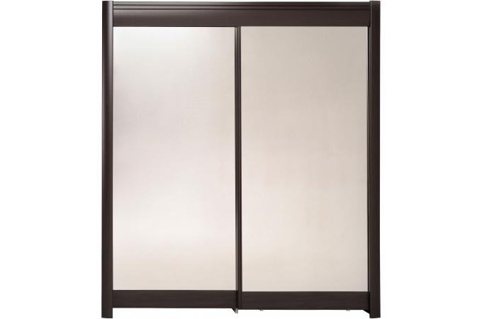 Armoire avec miroir 2 portes coulissantes caf tikki for Armoire porte coulissante miroir pas cher