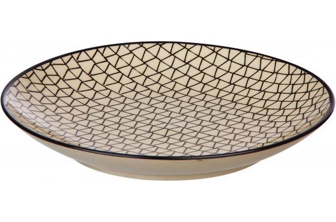 assiette dessert pomax en gr s beige d20 urbanrythm vaisselle pas cher. Black Bedroom Furniture Sets. Home Design Ideas