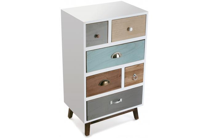 Bahut 6 tiroirs eva meuble de rangement pas cher - Bahut pas cher occasion ...