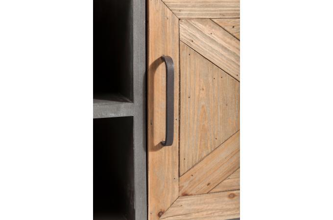 bahut bas x factory 2 portes meuble de rangement pas cher. Black Bedroom Furniture Sets. Home Design Ideas