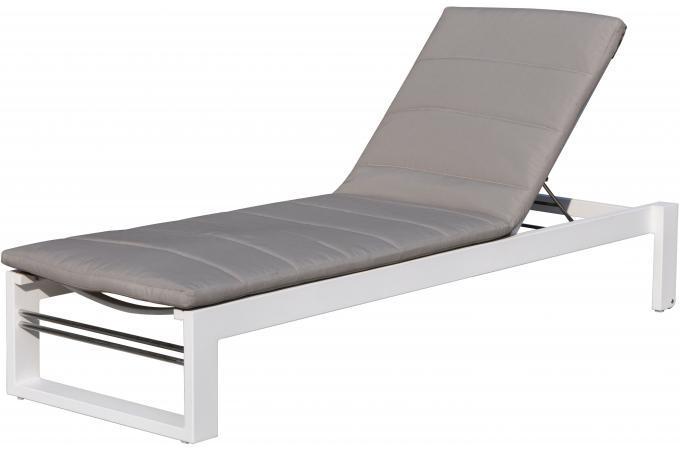 transat bain de soleil gris totoral chaise longue et. Black Bedroom Furniture Sets. Home Design Ideas