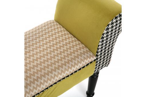 banc bout de lit en tissu patchwork 100cm ally banquette m ridienne pas cher. Black Bedroom Furniture Sets. Home Design Ideas