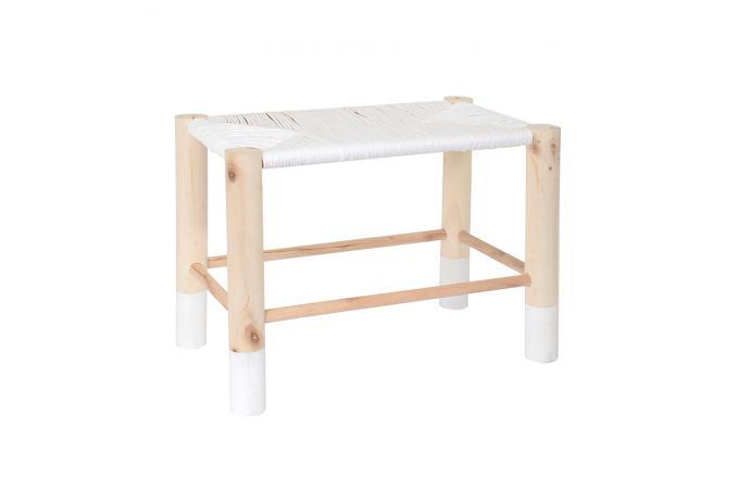 banc marocain blanc saramea petit tabouret pas cher. Black Bedroom Furniture Sets. Home Design Ideas