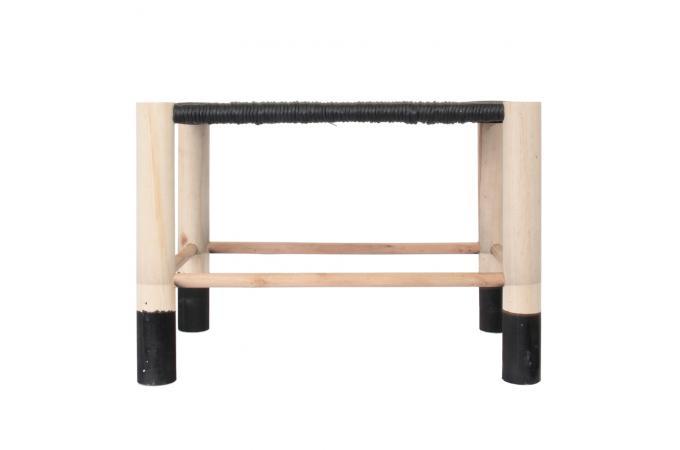 banc marocain noir saramea banc pas cher. Black Bedroom Furniture Sets. Home Design Ideas
